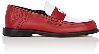 Loewe Women's Cutout-Heart Leather Loafers