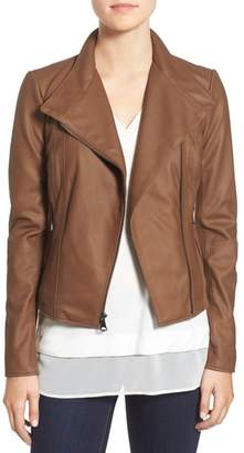 Andrew Marc 'Felix' Stand Collar Leather Jacket