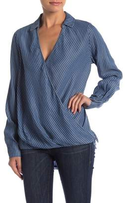 Naked Zebra Striped Chambray Top