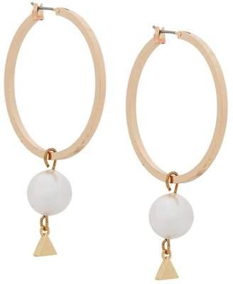Coup De Coeur pearl hoop earrings