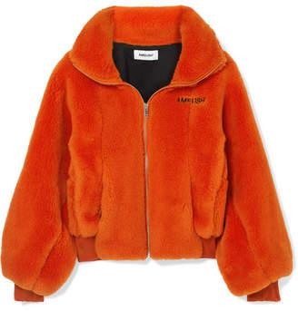 Ambush Embroidered Wool-fleece Jacket - Orange