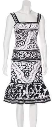 Oscar de la Renta Sleeveless Midi Dress Black Sleeveless Midi Dress