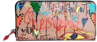 Christian Louboutin Panettone beige loubitag wallet