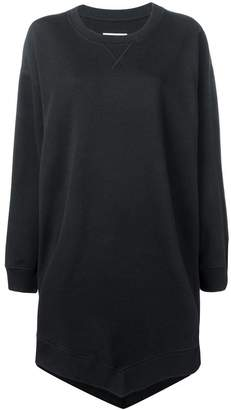 MM6 MAISON MARGIELA handkerchief hem sweatshirt dress