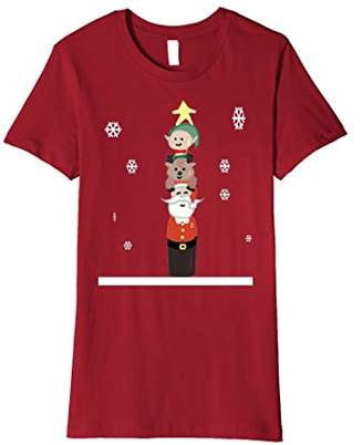 Santa Claus Totem Pole Christmas T shirt
