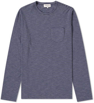YMC Long Sleeve Matisse Stripe Pocket Tee