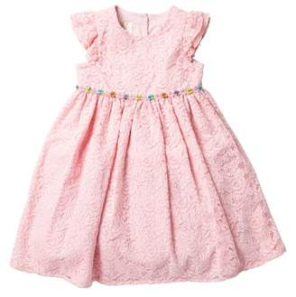 Laura Ashley Pink Lace Dress (Toddler & Little Girls)