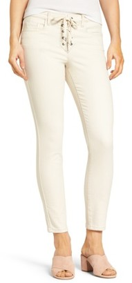 Women's Blanknyc Lace-Up Crop Skinny Jeans $98 thestylecure.com