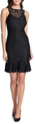 Kensie Dresses Highneck Lace Mini Dress