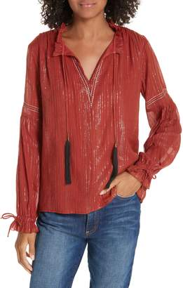 Dolan Cotton Peasant Blouse