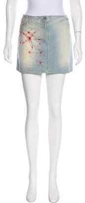 Versace Embellished Denim Skirt