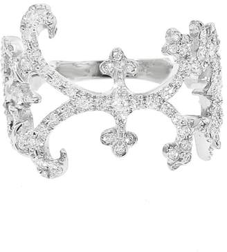 Kataoka Wide Webbed Diamond Band Ring