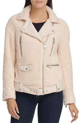 Levi's Faux-Leather-Trimmed Sherpa Moto Jacket