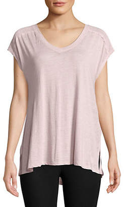 Calvin Klein Short-Sleeve Gathered Back Tee