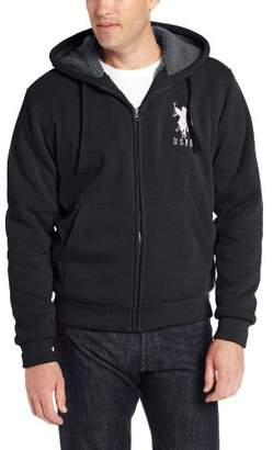 U.S. Polo Assn. Men's Fleece Hoodie with Nubby Polar Fleece Lining