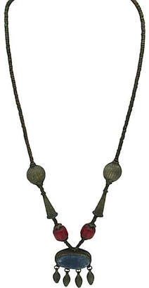 One Kings Lane Vintage Tribal Metal Bead & Lapis Necklace - Thanks for the Memories