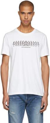 Stolen Girlfriends Club White Grateful Dead Skeleton Strip T-Shirt