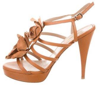 ValentinoValentino Flower-Embellished Platform Sandals
