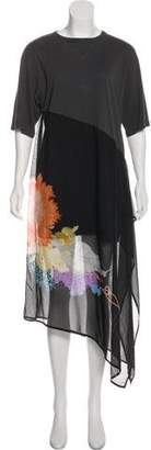 Dries Van Noten Silk-Blend Printed Dress