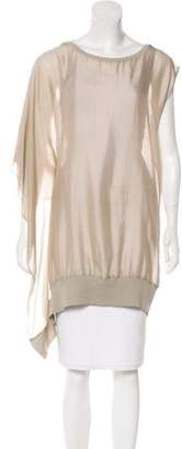 Brunello Cucinelli Scoop Neck Oversize Top