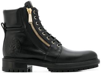 Balmain lace-up biker boots