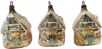 One Kings Lane Vintage Antique German Glass House Ornaments Set of 3