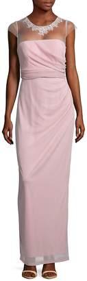 JS Collections Women's Sheer Matte Gown