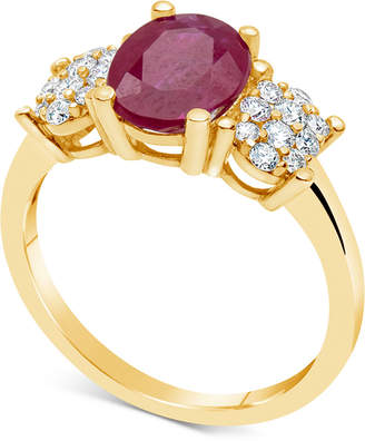 Macy's Certified Ruby (2-1/5 ct. t.w.) & Diamond (1/3 ct. t.w.) Ring in 14k Gold