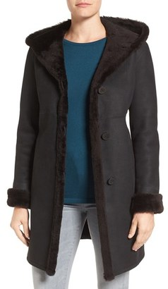 Women's Blue Duck Fitted Genuine Shearling Coat $1,795 thestylecure.com
