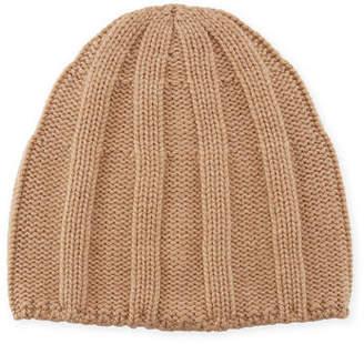 Brunello Cucinelli Men's Cashmere Ribbed Beanie Hat