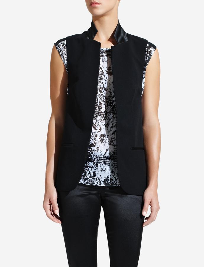 The Limited Forenza Satin-Trimmed Vest