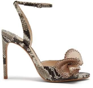 Sophia Webster Soleil snake-effect leather sandals