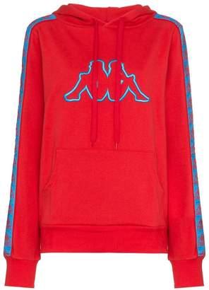 Charm's x Kappa logo embroidered cotton-blend hoodie