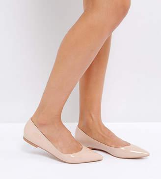 Asos Design LATCH Pointed Ballet Flats