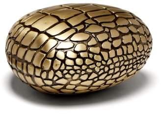 L'OBJET L'Objet Lobjet - Crocodile Porcelain And Brass Paperweight - Gold