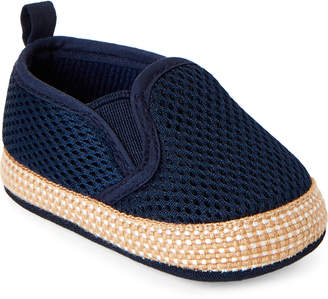 Baby Essentials Rising Star (Newborn/Infant Boys) Navy Mesh Slip-On Shoes