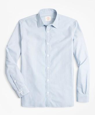 Brooks Brothers Multi-Stripe Nine-to-Nine Cotton Broadcloth Sport Shirt