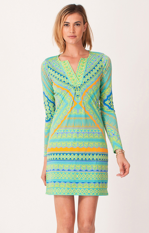 Hale Bob - Leya Jersey Dress in Turquoise