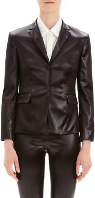 Theory Faux Leather Shrunken Jacket