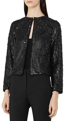REISS Dinah Embellished Jacket $275 thestylecure.com