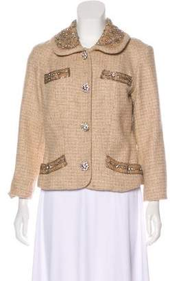Tracy Reese Embellished Wool-Blend Jacket