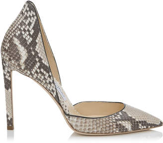 Jimmy Choo LIZ 100 Natural Matt Python Pointy Toe Pumps