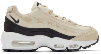 Nike Biege and Grey Air Max 95 Sneakers
