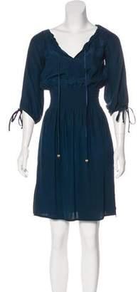 Abaete Silk Knee-Length Dress