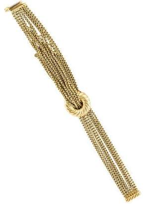 David Yurman Multistrand Box Chain Diamond Tassel Bracelet