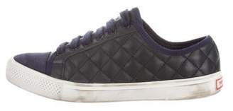 Tory Burch Quilted Leather Low-Top Sneakers