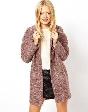 Asos Wrap Cocoon Coat - Pink