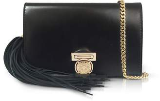 Balmain Black Leather Mini BBox Clutch