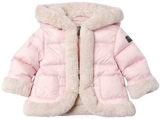 Il Gufo Hooded Nylon Down Jacket W/ Faux Fur