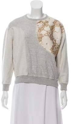 Stella McCartney Metallic-Accented Pullover Sweatshirt